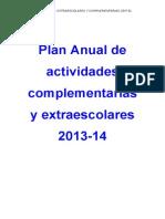 El Plan Anual de Actividades Complementarias y Extraescolares 2013-14