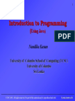 Introduction to programming using JAVA - Lecture 2
