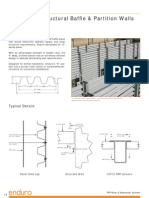 Eduro D Structural Baffle - Partition Walls Data Sheet
