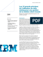 Les 10 grands principes de l'utilisation du data