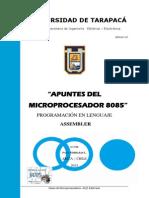 Apuntes del microprocesador 8085 lenguaje assembler