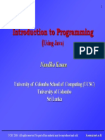 Introduction to programming using JAVA - lecture 5