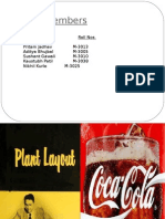 Plant Lay Out of Coca Cola Co.