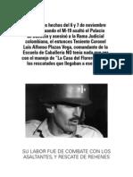 Folleto La Verdad sobre el Coronel Plazas Vega
