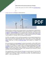 Le développement de l'éolien menacé en Europe