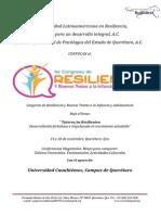 1er Congreso de Resiliencia y Buenos Tratos a La Infancia y Adolescencia 2013