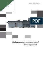 Bizhub Press 1250 1250p 1052 Oru m Replacement en 1 1 0