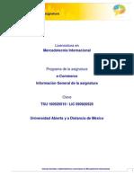 Informacion General de Asignatura E-Commerce