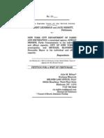 Lederman v. NYC Dept. of Parks_Petition for Writ