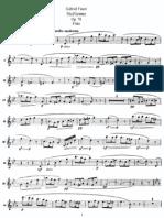 Faurè - Sicilienne op78 - flute part
