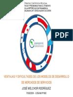 Ventajas y Dificultades de Los Modelos de Desarrollo de Mercados de Servicicios