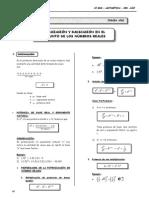 3er. Año - ARIT -Guía 5 - Potenciación y Radicación de numeros R