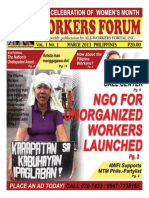 Workers Forum - Maiden Edition (March 8 2013)