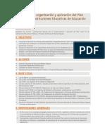 Normas para la organización y aplicación del Plan Lector en las Instituciones Educativas de Educación Básica Regular