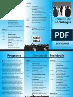 14 SM Semana de Sociologia Programa Noviembre 2010