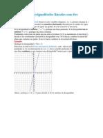 Graficando Desigualdades Lineales Con Dos Variables