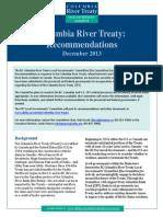 Columbia River Treaty Local Governments' Committee Columbia River Treaty Recommendations