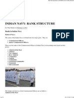 Indian Navy- Rank Structure