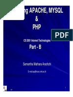 Installing APACHE, MYSQL & PHP