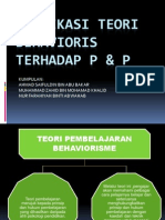 Implikasi Teori Behavioris Terhadap p & p