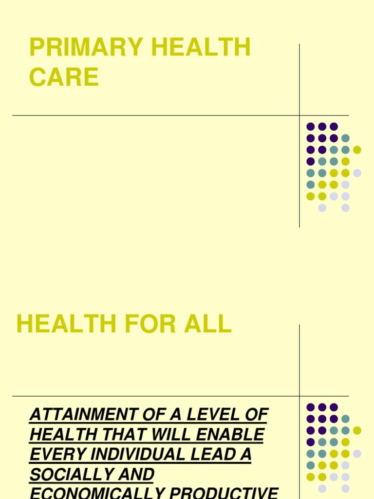 Primary Health Care Ppt | Health Care | Public Health