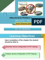 Analog Electronics II Week 3 Chp 2 (Dc Biasing)