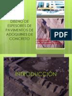 DISEÑO DE ESPESORES DE PAVIMENTOS DE ADOQUINES DE