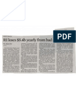 2009 April the Jakarta Post RI Loses uSD 5 Bil Yearly From Bad Sanitation