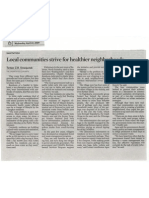 2009 April the Jakarta Post Local Communities Strive for Healthier Neighborhoods