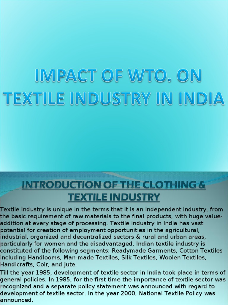 research proposal on textile export of india Arunachal's sericulture proposal pending with india's csb 16 scientist at the regional sericulture research station in pakistani textile exporters oppose.