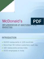 Mc donalds additional 3P's