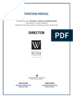 Position Profile - Shannon Leadership Institute Director