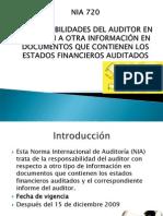 NIA 720 - Responsabilidades Del Auditor