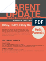 December 2013 Parent Newsletter