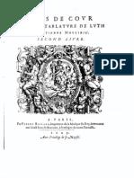 Etienne Moulinié - Airs de cour- 2e Livre 1625