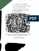 Etienne Moulinié - Airs de cour- 3e Livre 1629