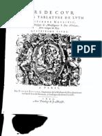 Etienne Moulinié - Airs de cour- 4e Livre 1633