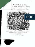 Etienne Moulinié - Airs de cour- 5e Livre 1635