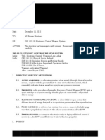 Portland Police Taser Forbidden for Medically Fragile Persons