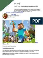 Minecrafter (3.5e Class)