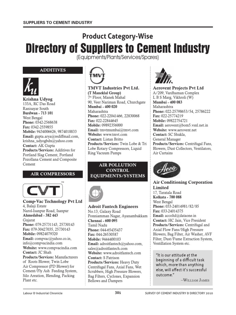 Directory Of Suppliers To Cement Industrypdf Wiring Harness Manufacturers