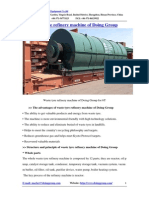 Waste Tyre Refinery Machine of Doing Group