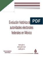 Evolución histórica de las autoridades electorales en México