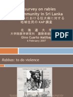 Knowledge, Attitude and Practice survey on rabies in a community in Sri Lanka