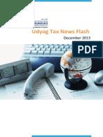 Udyog Tax News Flash
