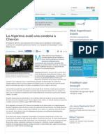 Www Lanacion Com Ar 1615717 La Argentina Avalo Una Condena a Chevron