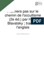 Premiers Pas Sur Le Chemin de l'Occultisme Blavatsky