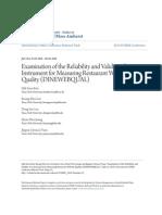 Measuring Restaurant Website Quality