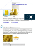 The Nutritive Value of Corn Germ Oil and Its Quality Index