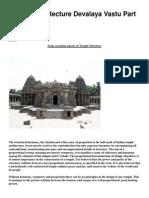 Temple Architecture Devalaya Vastu Part Five